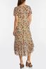 Plus Size Mesh Floral High- Low Dress alt view