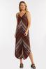 Plus Size Cranberry Mitered Striped Jumpsuit alternate view