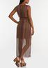 Plus Size Stripe Mesh Maxi Dress alternate view