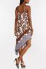 Floral Asymmetrical Slip Dress alt view