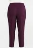 Plus Size Purple Belted Bengaline Pants alternate view