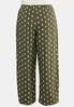 Plus Size Dotted Olive Pants alternate view