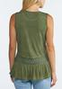 Plus Size Olive Peplum Top alternate view