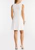 Plus Size White Eyelet Knit Dress alternate view