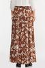 Spotted Leaf Maxi Skirt alt view