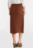 Plus Size Textured Wrap Pencil Skirt alternate view