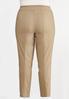 Plus Size Soft Woven Slim Pants alternate view