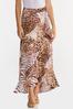 Plus Size Leopard Wrap Maxi Skirt alternate view