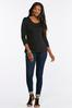 Plus Size Solid Scoop Neck Tee alt view