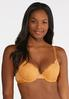 Plus Size White And Gold Lace Bra Set alternate view