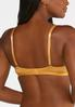 Plus Size White And Gold Lace Bra Set alt view