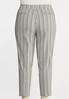 Plus Size Button Pocket Stripe Pants alternate view