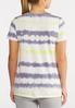 Plus Size Knotted Tie Dye Top alternate view