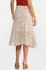 Plus Size Floral Breeze Midi Skirt alt view