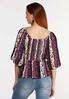 Plus Size Puff Sleeve Wrap Top alternate view