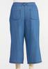 Plus Size Cropped Denim Pants alternate view
