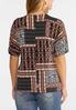 Plus Size Tribal Patchwork Top alternate view