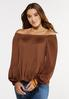 Pleated Square Neck Top alt view