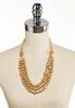 Worn Gold Triple Strand Cord Necklace alternate view