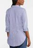 Plus Size Stripe Button Down Shirt alternate view