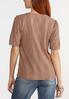 Plus Size Eyelet Puff Sleeve Top alternate view