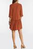 Plus Size Flounced Drop Waist Dress alt view