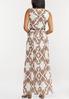Plus Size Smocked Paisley Maxi Dress alternate view