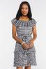Plus Size Tiered Houndstooth Dress alternate view