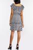 Plus Size Tiered Houndstooth Dress alt view