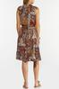 Belted Paisley Dress alt view