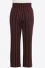 Plus Size Striped Wide Leg Pants alt view