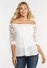 Floral Organza Sleeve Top alt view