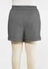 Plus Size Houndstooth Shorts alternate view