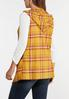Plus Size Plaid Tasseled Vest alternate view