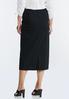 Plus Size Ponte Pull- On Midi Skirt alternate view