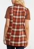 Plus Size Orange Plaid Vest alternate view