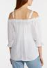Plus Size White Off The Shoulder Poet Top alternate view