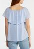 Flounced Linen Top alternate view