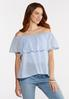 Flounced Linen Top alt view