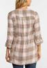 Plus Size Draped Sunset Plaid Jacket alternate view