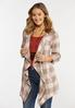 Plus Size Draped Sunset Plaid Jacket alt view