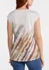 Plus Size Knotted Brushed Stripe Top alternate view