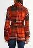 Plus Size Fireside Plaid Belted Jacket alternate view