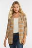 Plus Size Plaid Boyfriend Blazer alternate view