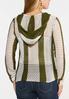 Plus Size Green Stripe Sweater alternate view
