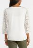 Plus Size Lacy Ruffled Sleeve Top alternate view
