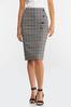 Plus Size Plaid Pencil Skirt alternate view