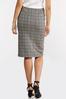 Plus Size Plaid Pencil Skirt alt view