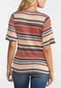 Plus Size Twisted Stripe Top alternate view