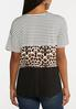 Plus Size Mixed Animal Colorblock Top alternate view